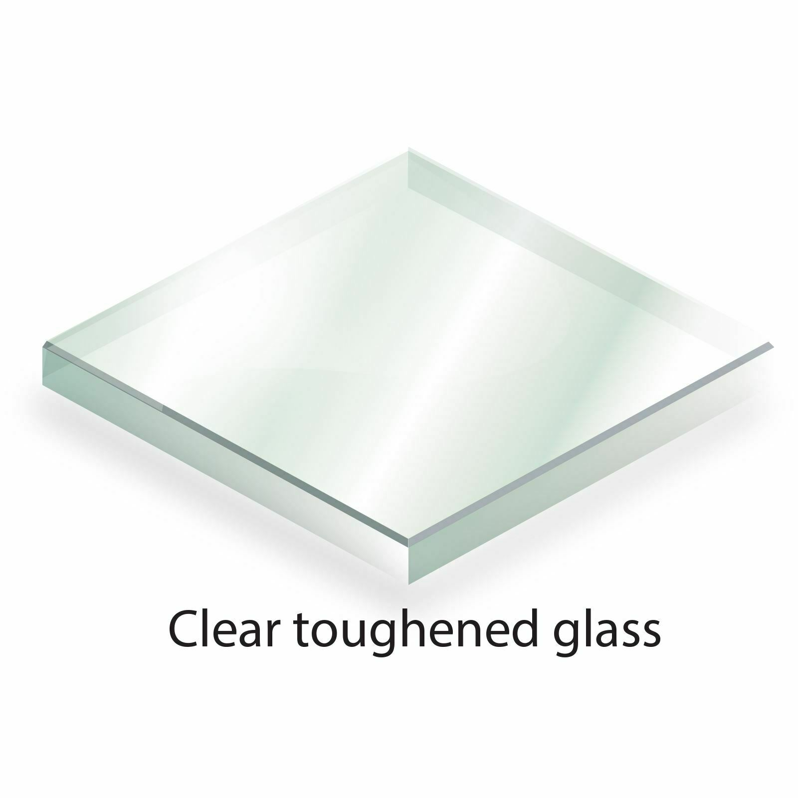 Bespoke Toughened Glass - Cut to Size - 6mm Clear Glass, Polished