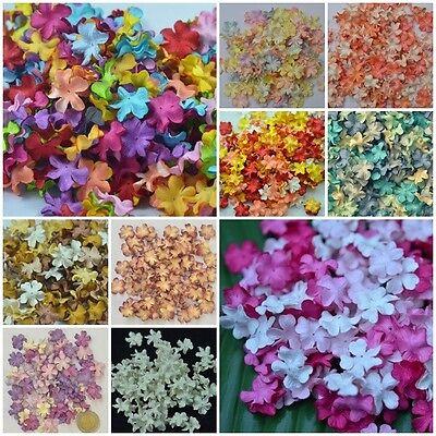 50 pcs Mulberry Paper Mini Petal Flower Craft Scrapbooking Dia 2 cm/0.8 inch