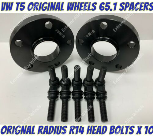 Alloy Wheel Spacers 15mm x 2 M14x1.5 B Bolts Fits Original Volkswagen Amarok
