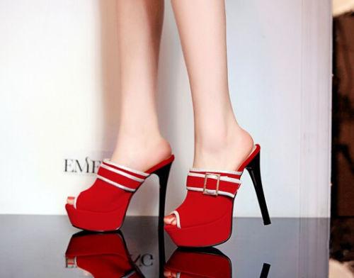 Damen Sandalee Abendschuhe high blau heels plateau 13.5 pantoletten blau high 9286 e66326