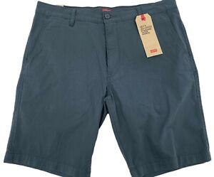 "Levi's Mens XX Chino Stretch Shorts Size 36 Slate Gray Standard Taper 10"" inseam"