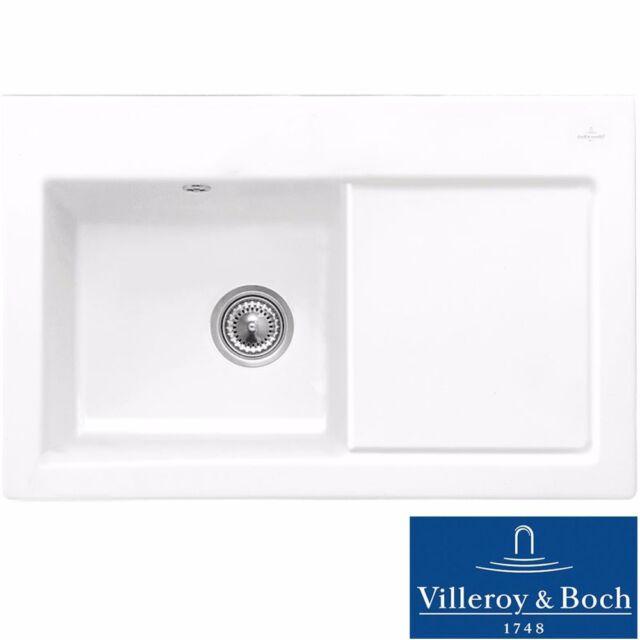Villeroy & Boch Subway 45 1.0 Bowl White Ceramic Kitchen Sink RHD ...
