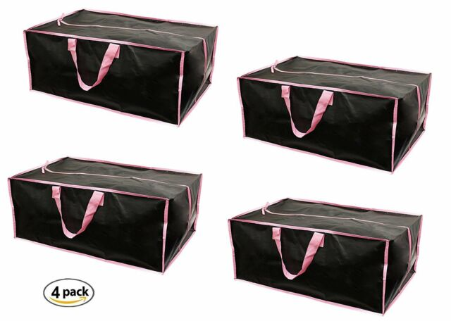 Earthwise Extra Large Reusable Storage Bags Totes Container Backpack Handles