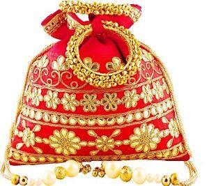 portemonnee vrouwen etnische Clutch tas Indiase Potli bruids bruiloft kraal avondfeest zMVpUqS