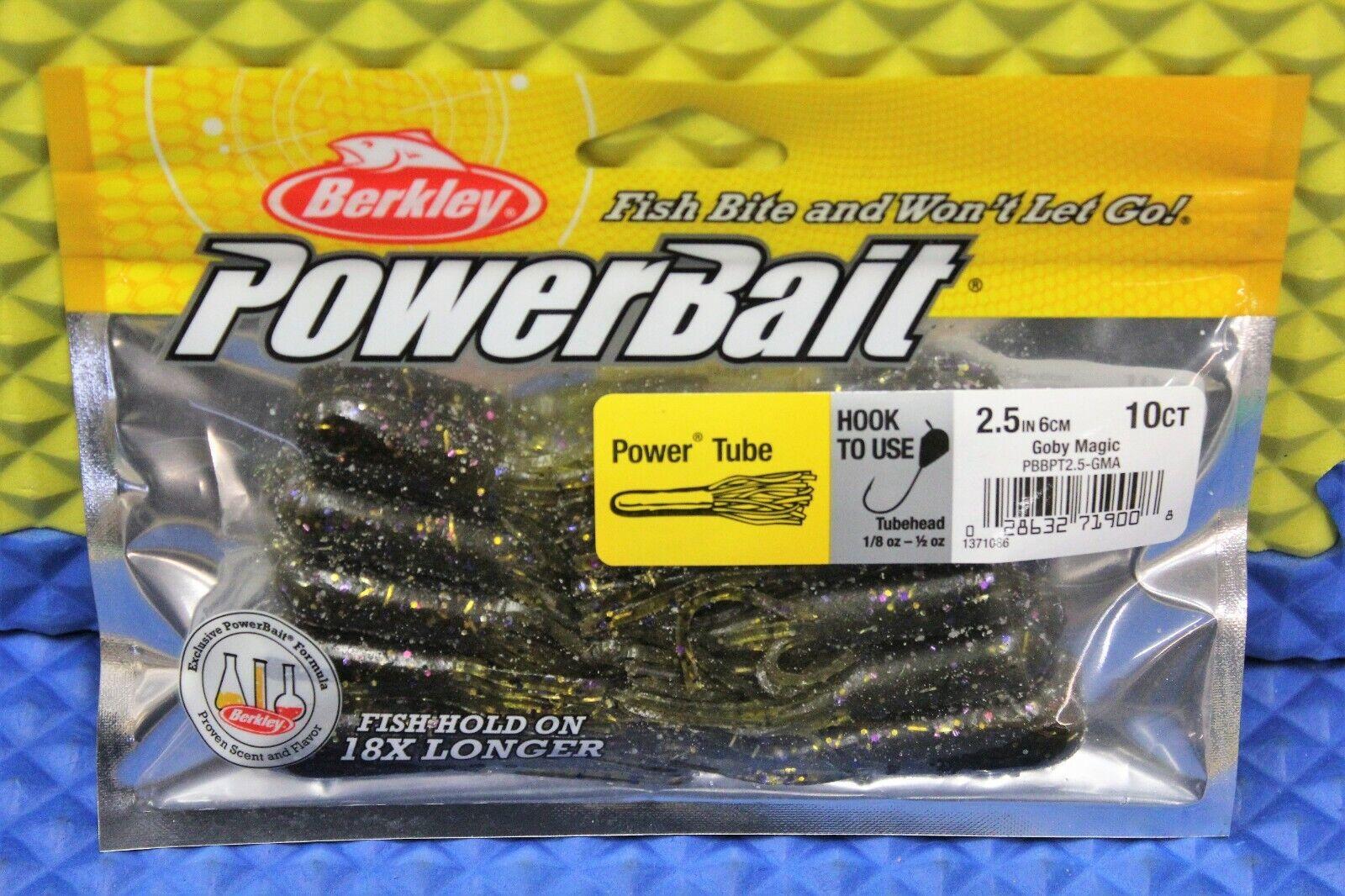 Berkley Power Bait Soft Bait Power Tube 3.5 IN 8-Ct CHOOSE YOUR COLOR!