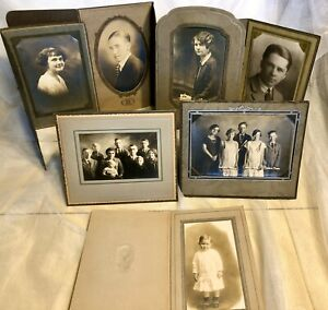 VTG-1920s-ART-DECO-NOUVEAU-Pressed-Cardboard-Portrait-PICTURE-FRAME-Mat-Lot-8