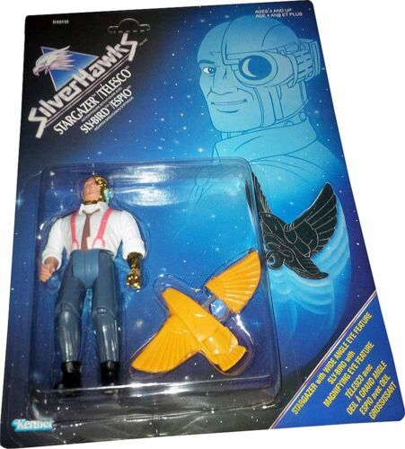 Stargazer™ W Sly-Bird™ Figur Vintage 1986 Sammlerstück Mosc Neu Silverhawks