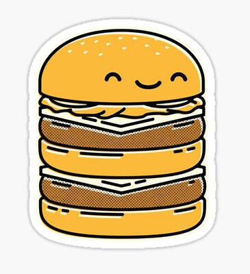 ik1445 Wall Decal Sticker fast food hamburger cheese burger snack fast food