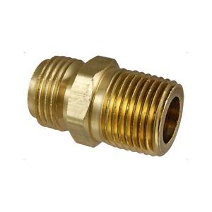 Lot-of-10-172-0404C-1-4-034-NPSM-Male-Brass-x-1-4-034-NPTF-Male-Brass-Fittings