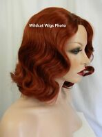 Relaxed Finger Wave Wig .. Sepia Eternity Wig .. Fingerwave .. Foxy Red