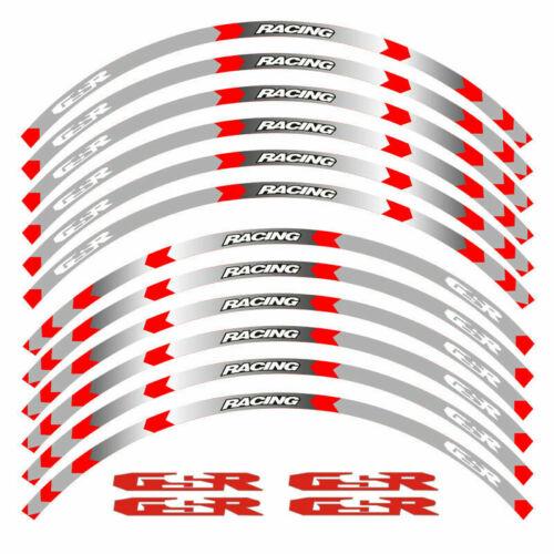 """MOTORCYCLE RIM /""""17 STRIPES WHEEL DECALS TAPE STICKERS For SUZUKI GSR 600 750"""