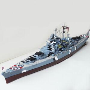 1-700-Escala-Aleman-Bismarck-Battleship-Acorazado-modelo-puzzle-de-juguete-de-ejercito-de-la-segunda