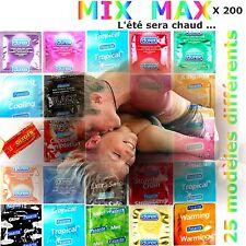 PROMO  ♡ Lot festif de 200 préservatifs ♡ 25 modèles différents