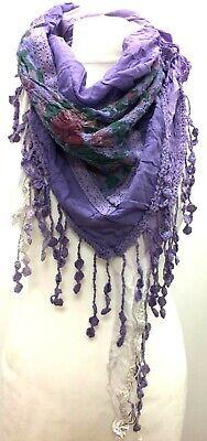Boho hippy TURQUOISE BLUE pretty LETTUCE OF LONDON scarf wrap pashmina gift