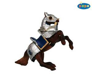 Papo-39247-Armored-Horse-Blue-Knight-Mount-Toy-Figurine
