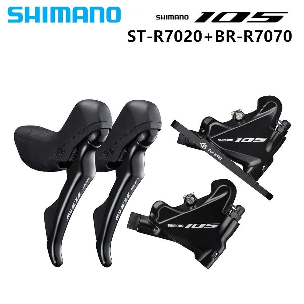 Shimano 105 ST R7020 + BR  R7070 STI + Hydraulic Disc Brakes - Flat Mount - 2x11S  free delivery and returns