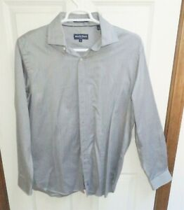 Austin Reed 2 Ply Herringbone Pattern L Large Long Sleeve Cotton Shirt Ebay