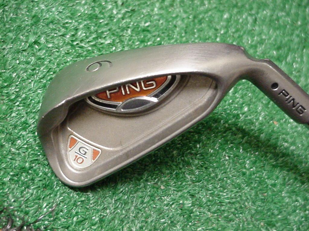 Ping G10 6 Hierro AWT punto negro acero eje rígido de la flexión