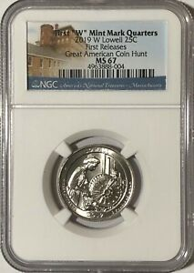 2019 W NGC MS67  LOWELL FIRST W QUARTER GREAT AMERICAN COIN HUNT 25c WEST POINT