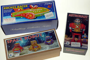 SPACE-THEME-TIN-TOY-COLLECTION-1x-ROCKET-RACER-3x-SPACE-ROBOTS-1x-ASTRONAUT