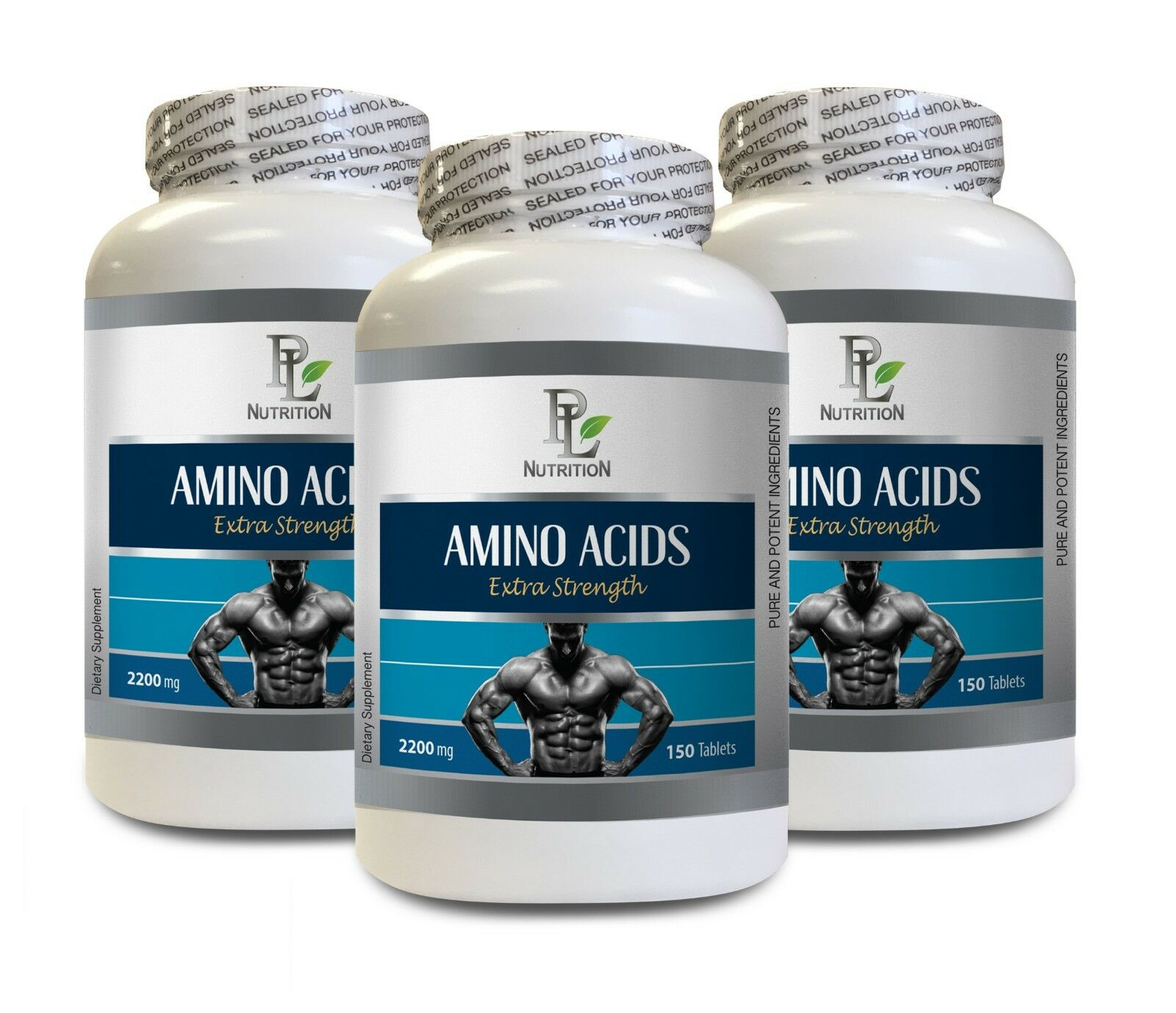 Muscle growth supplements - AMINO ACIDS ACIDS AMINO 2200MG 3B - l-leucine supplement 941973
