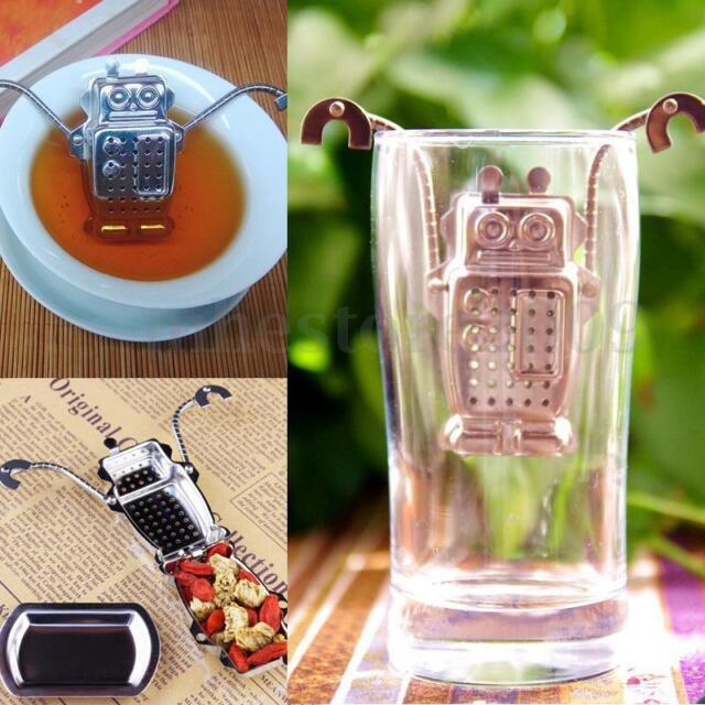 Stainless Strainer Herbal Spice Tea Leaf Filter Robot Hanging Diffuser Infuser