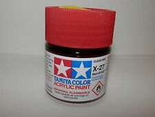 Tamiya Color Acrylic Paint Clear Red #X-27 (23 ml) NEW