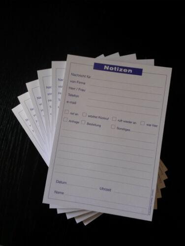 Telefonnotiz Blocks Notizen 6 x Notizblock DIN A5 á 50 Blatt 22201