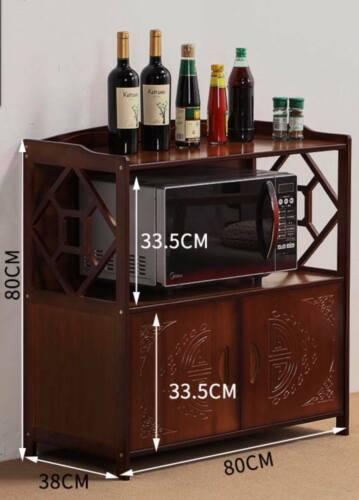 Bamboo Bookcase Bookshelf Cabinet Storage Organizer With Doors Antique Style