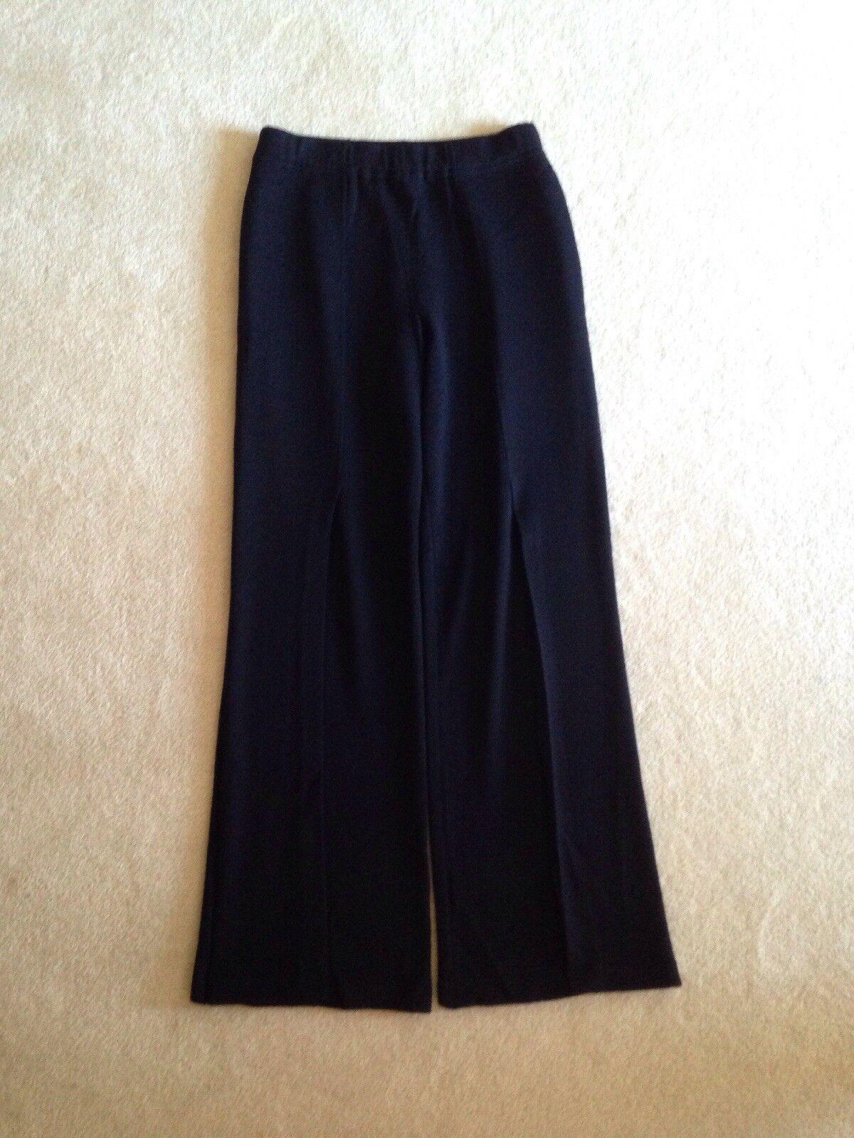 St John Evening Santana Knit Pants - Size 6 with Vent Overlay Pant Leg EUC