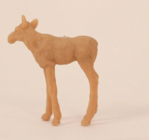 Hausser Elastolin 5409 kleines Fohlen Elch Rohling unbemalt Figur Aufstellfigur