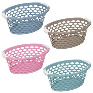 Large-Pastel-Laundry-Basket-With-Handles-Storage-Washing-Bin-Plastic-Hamper-Tidy