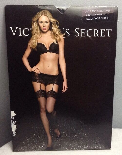 1acbdca71 Victoria s Secret Satin Top Thigh High Stockings Pick Any 1 C Black ...