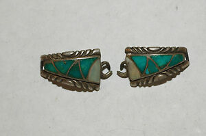bde9d5a9b Lady's Zuni 10 Stone Turquoise and M.O.P Watch Tips Sterling Silver ...