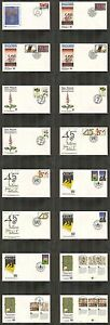 UN-New-York-572-583-1990-Annual-Set-less-579-OUNPA-Cachet-FDC-No-Address