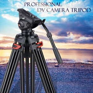 """71"""" Pro Camera Tripod for DV DSLR Video Stand Aluminum Fluid Pan Head With Bag"""