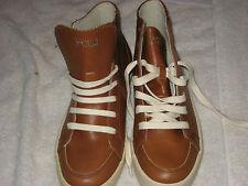 Vintage Ralph Lauren High Top Sneaker Brown LeatherChukka Shoes Men's Size 9D