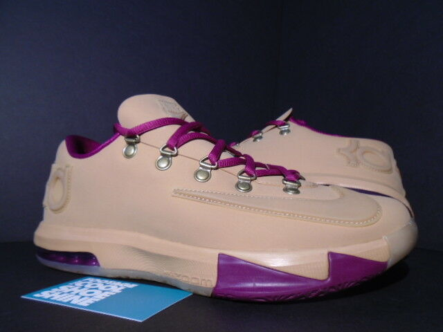 2013 NIKE KEVIN DURANT KD VI 6 EXT GUM QS BROWN RASPBERRY RED 639046-900 NEW 9.5