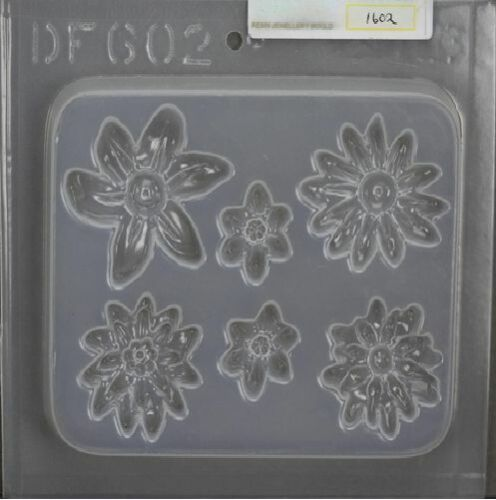 Flower Medallions 6 on 1 Resin Jewellery Mould RM 1602