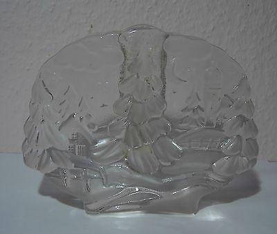 Retro 70er Walther Solifleur Kristall - Glas Vase Blockvase X-mas-motiv 1,2 Kg Freigabepreis