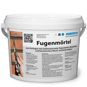 Orig. Ruberstein® Fugenmörtel Spachtel hellgrau, 2 kg  im verschließbaren Eimer