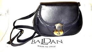 Vintage Baldan Italy Leder Handtasche mit Schloss und Schlüssel