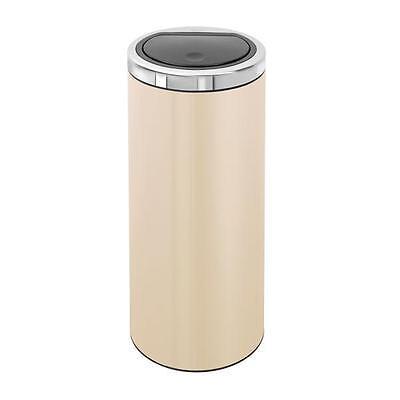 Brabantia Touch Bin 30 Liter Flat Top.Brabantia Almond 30 Litre Flat Top Touch Bin 477263 8710755477263 Ebay