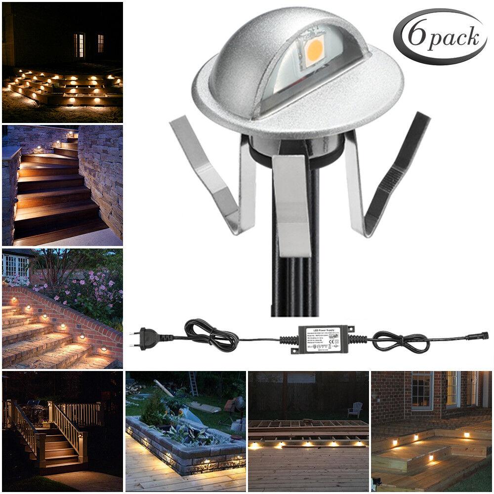 6er 35mm LED Einbaustrahler Treppe Terrasse Leuchte Garten Außenlampe Warmweiß   Verrückter Preis, Birmingham    Üppiges Design    Verkauf Online-Shop