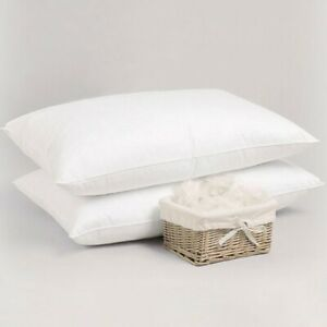 Luxury-100-Duck-Feather-amp-Down-Pillows-Extra-Filled-Hotel-Quality-PACK-of-2-amp-4