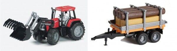 Bruder 00954 Traktor Case CVX 170 & Holztransporter  | Öffnen Sie das Interesse und die Innovation Ihres Kindes, aber auch die Unschuld von Kindern, kindlich, glücklich