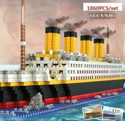 New 1860Pcs Movie TITANIC Ship//Nano Nano Block Diamond Building EDC Toys Gifts