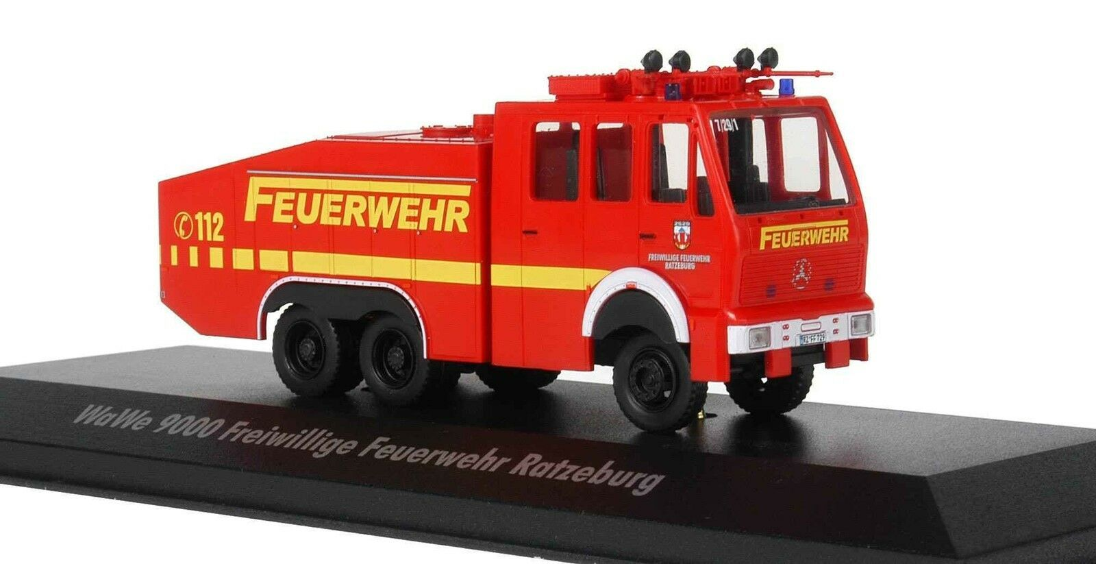 Exclusiv modelo Wawe 9000 bomberos Ratzeburg 1 87 h0 cañones de agua