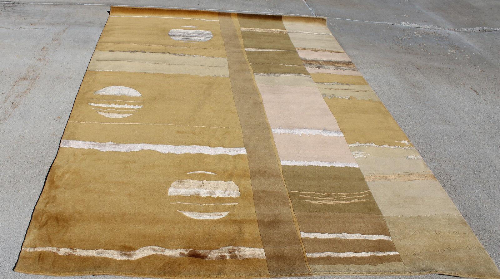 R11575 Gorgeous Eearth Tone Farbes Tibetan Tibetan Tibetan Area Rug 6' X 9' Handmade In Nepal 45e88a