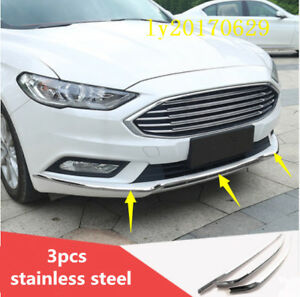 Steel-Front-Bumper-Lip-Grille-Cover-Trim-Accent-for-Ford-Fusion-Mondeo-2017-2018
